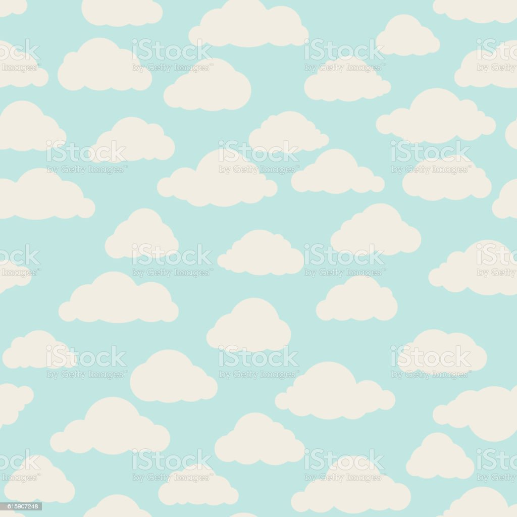 cloud pattern cloudy sky seamless backround stock vector art more