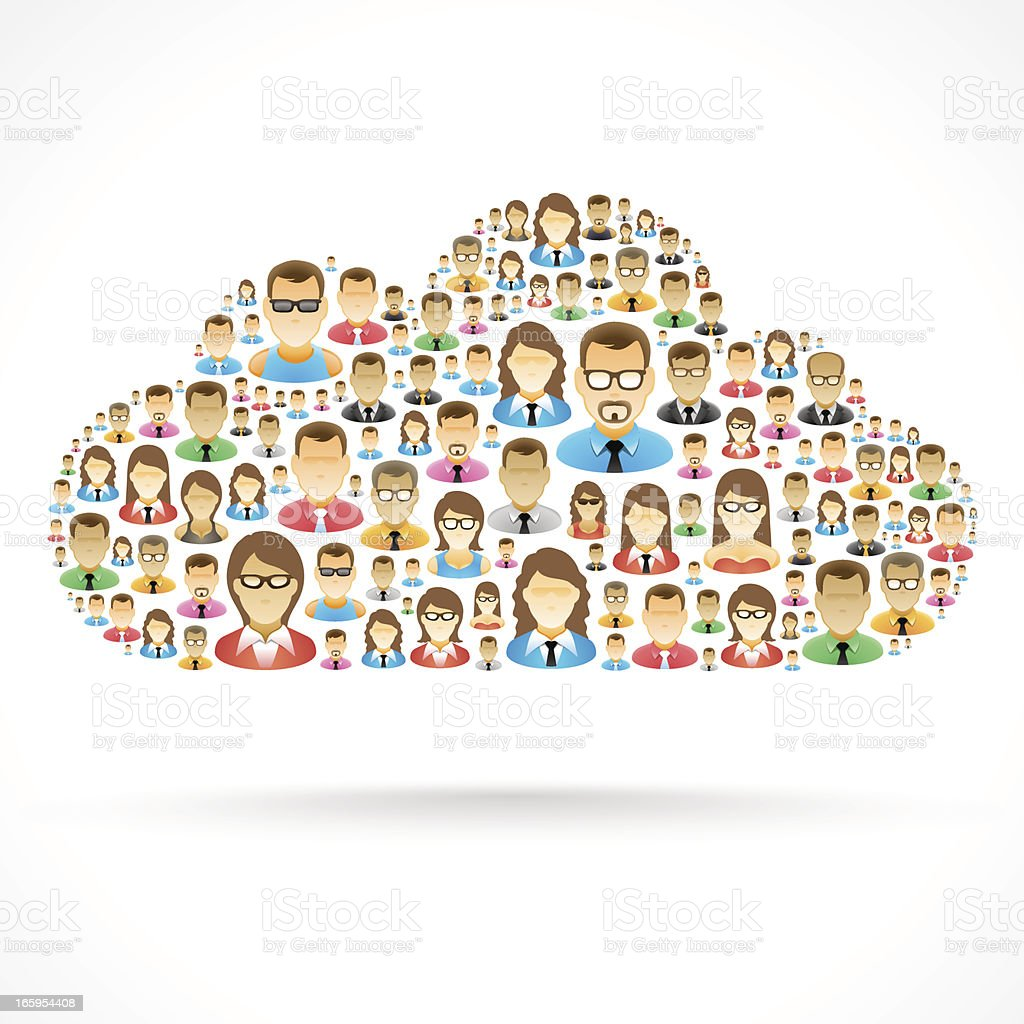 Cloud People royalty-free cloud people stock vector art & more images of business