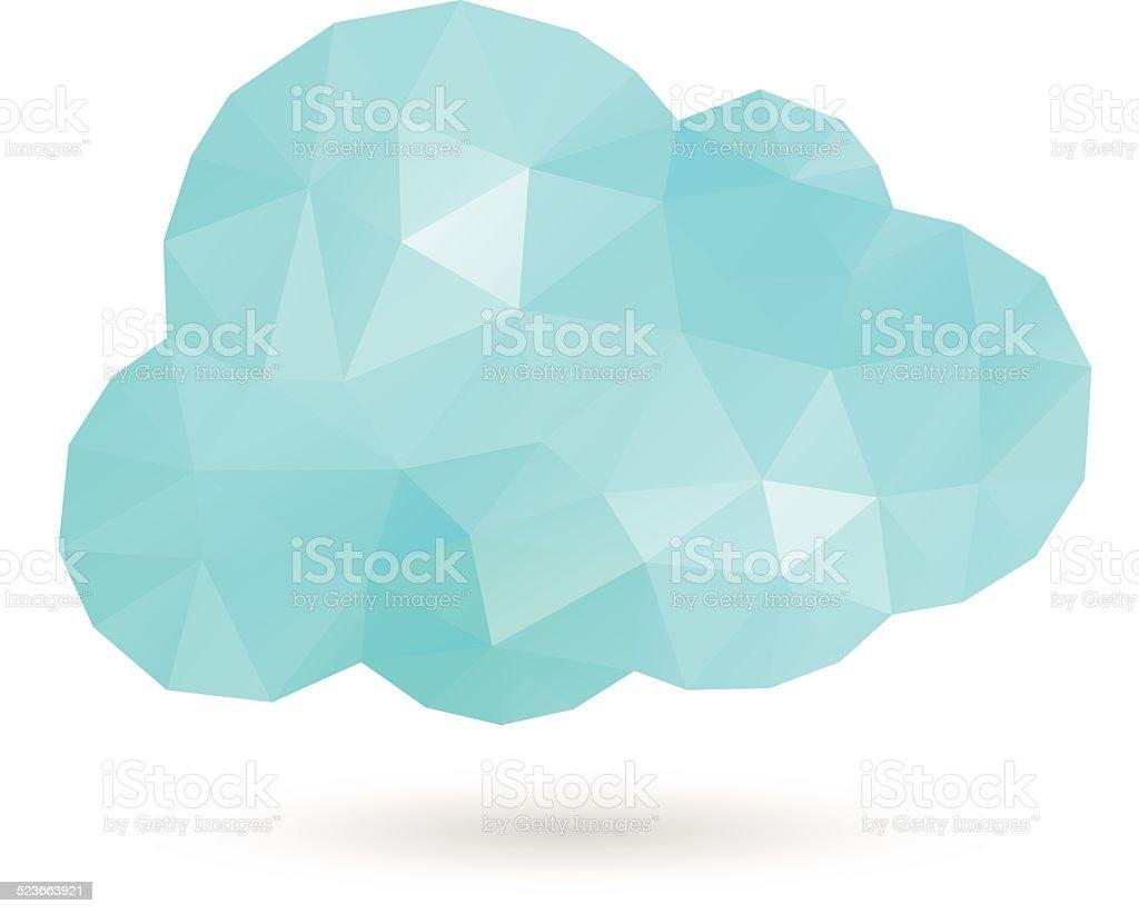Cloud Polygon vector art illustration