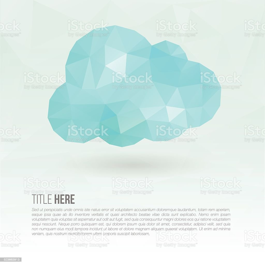 Cloud polygon with copyspace vector art illustration