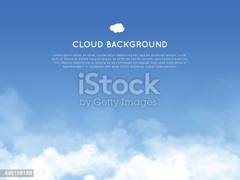 istock Cloud realistic background 499156188