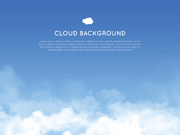 cloud realistic background - skies stock illustrations, clip art, cartoons, & icons