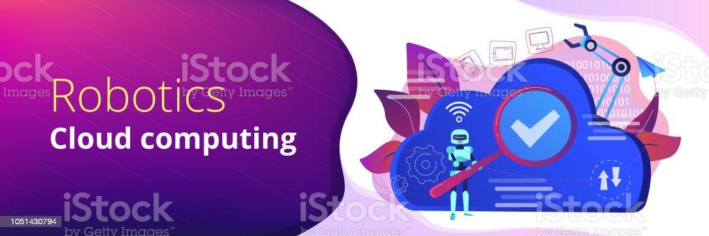 Cloud Robotics Header Banner Stock Vector Art More Images Of