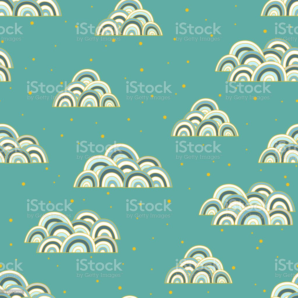 Cloud seamless pattern royalty-free cloud seamless pattern stock vector art & more images of abstract