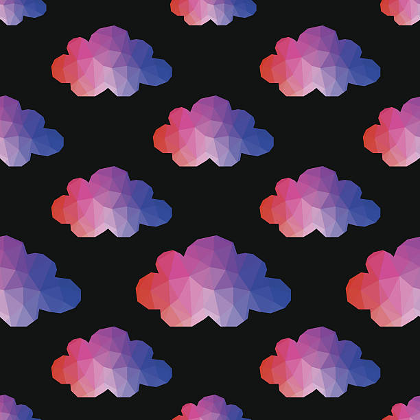 Cloud seamless pattern. Weather backdrop. vector art illustration
