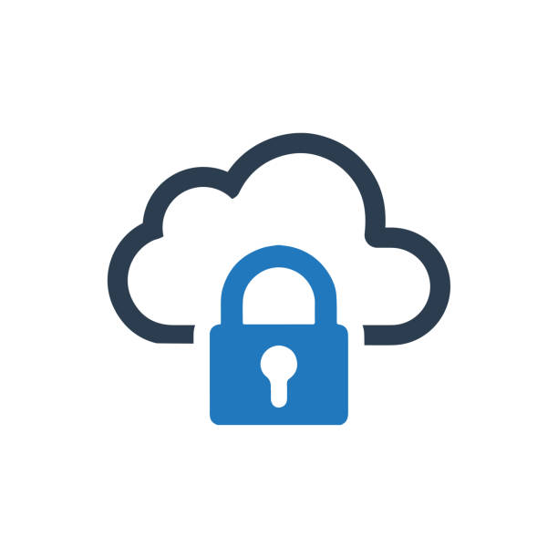 Cloud Security Icon Cloud Security Icon locking stock illustrations