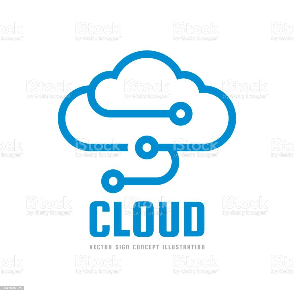 cloud service vector sign template concept illustration data storage
