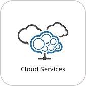 Cloud Services Icon. Flat Design.