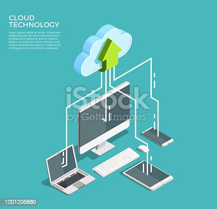 istock cloud services isometric concept composition 1201205880