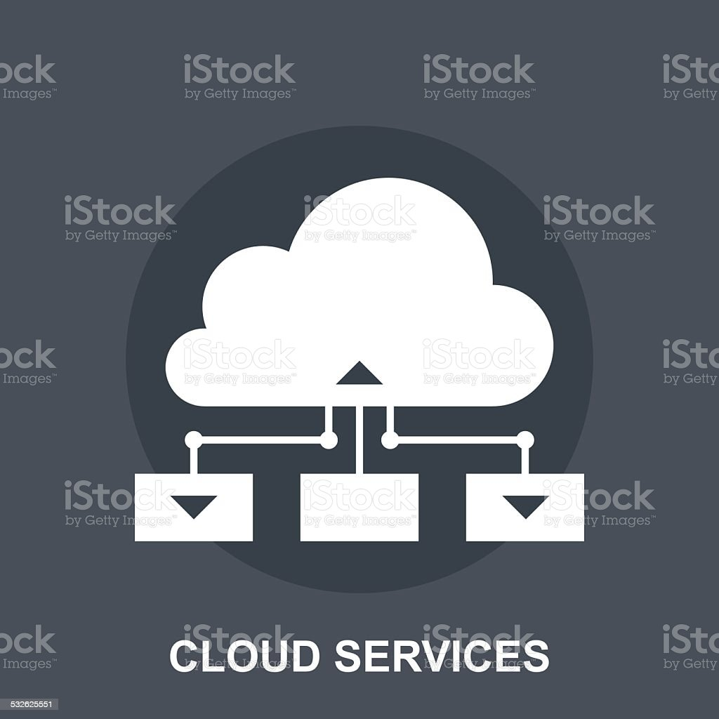Cloud Services vector art illustration