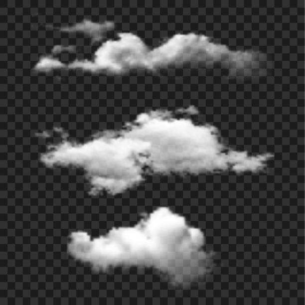 bulut vektör icon set - clouds stock illustrations