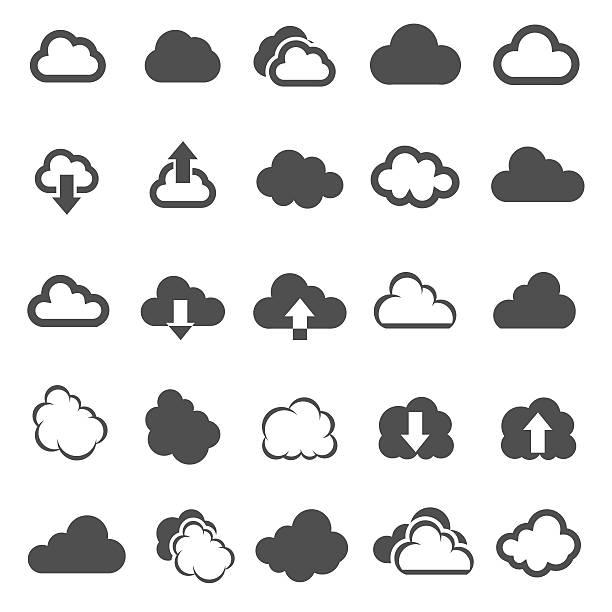 ilustraciones, imágenes clip art, dibujos animados e iconos de stock de cloud formas de ilustraciones - nube