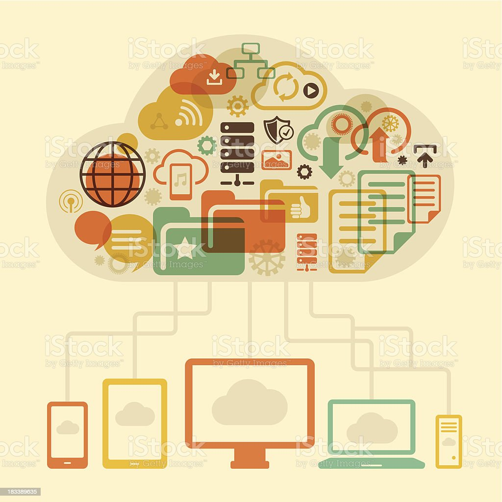 Cloud sharing concept royalty-free cloud sharing concept stock vector art & more images of accessibility