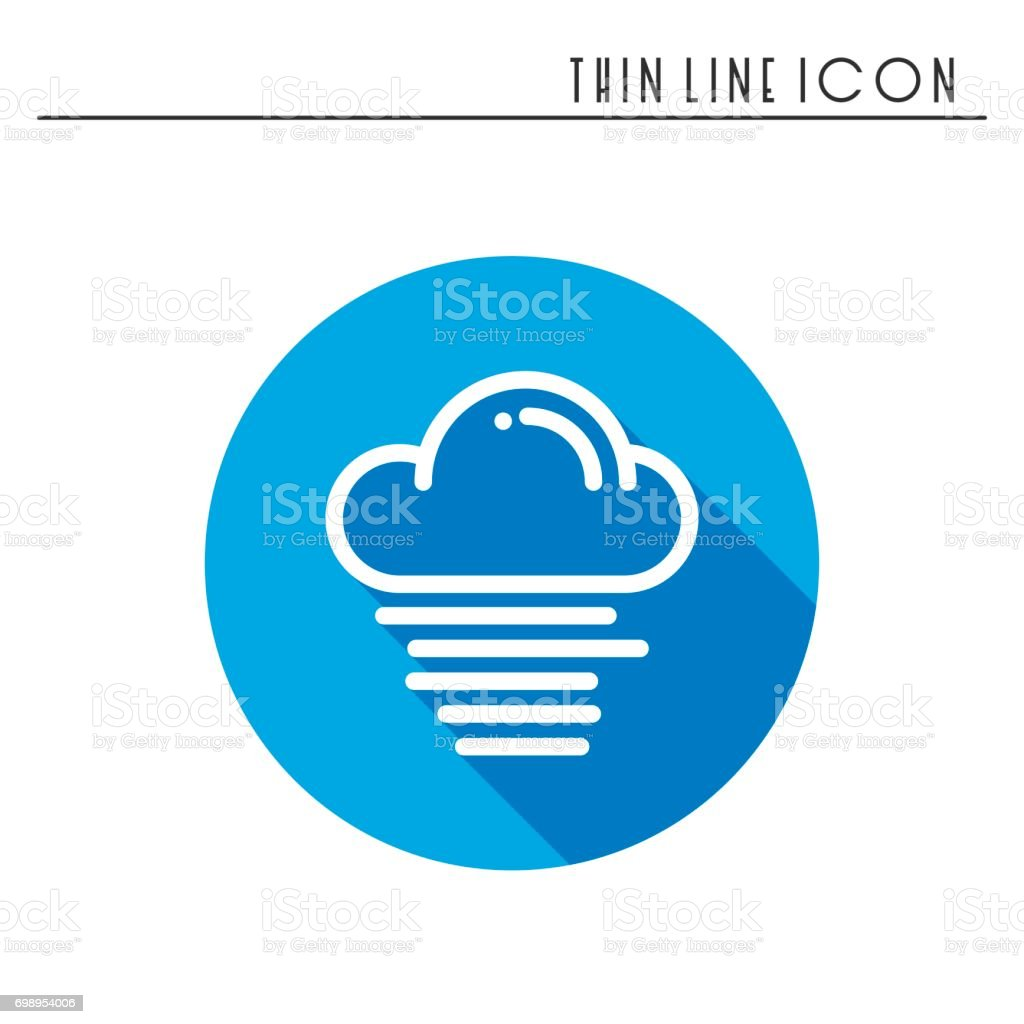Cloud Sky Fog Mist Line Simple Icon Weather Symbols Meteorology