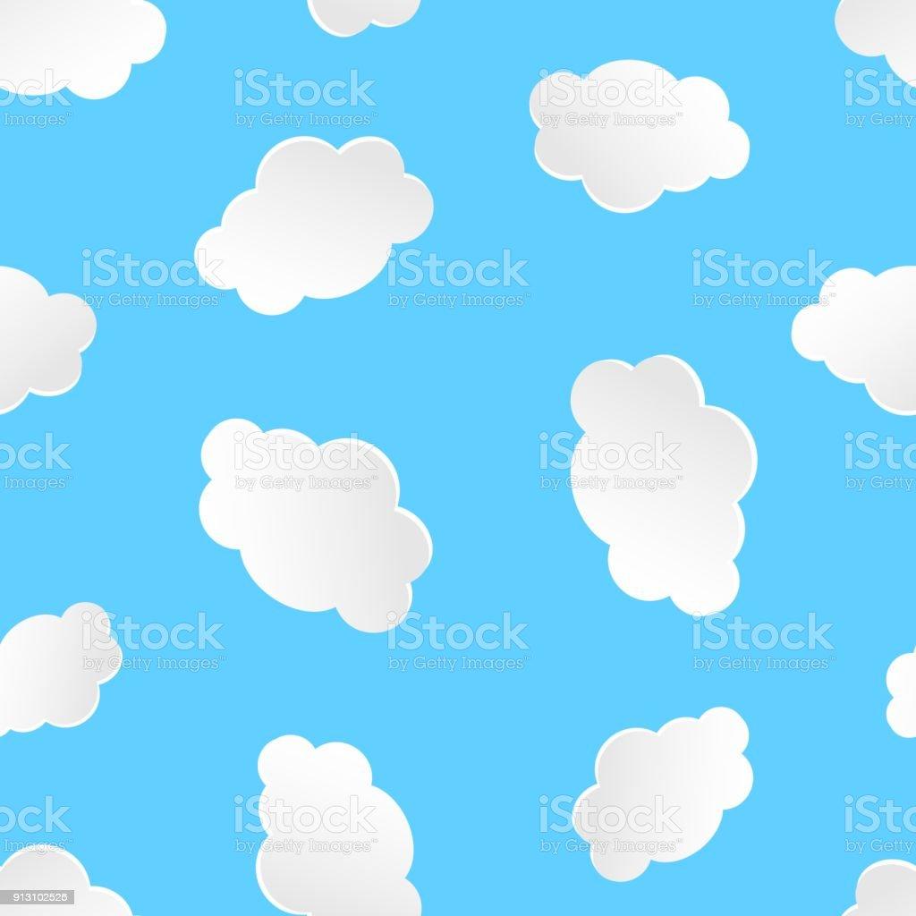 雲空のシームレスなパターン背景ビジネス概念ベクトル イラスト漫画