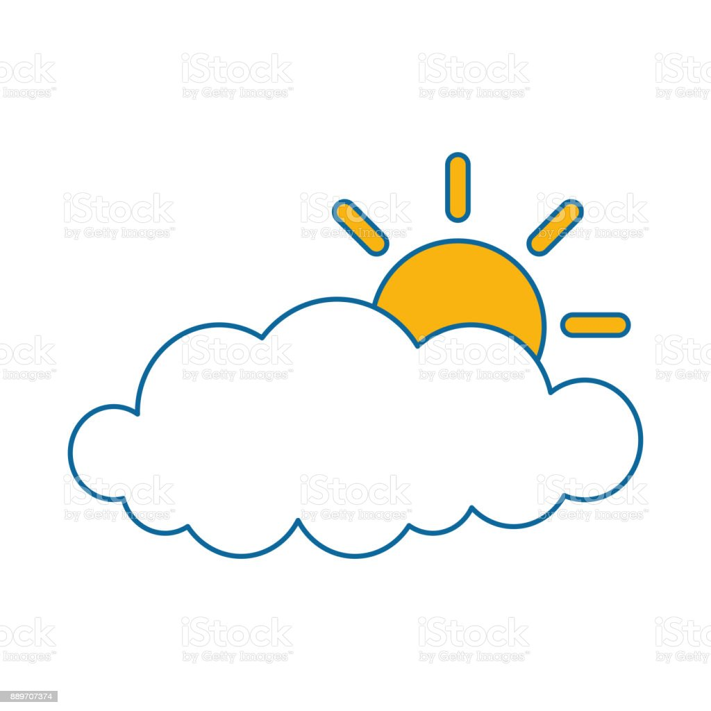 cloud sky silhouette with sun stock vector art more images of rh istockphoto com Rustic Floral Vector Rustic Deer Head