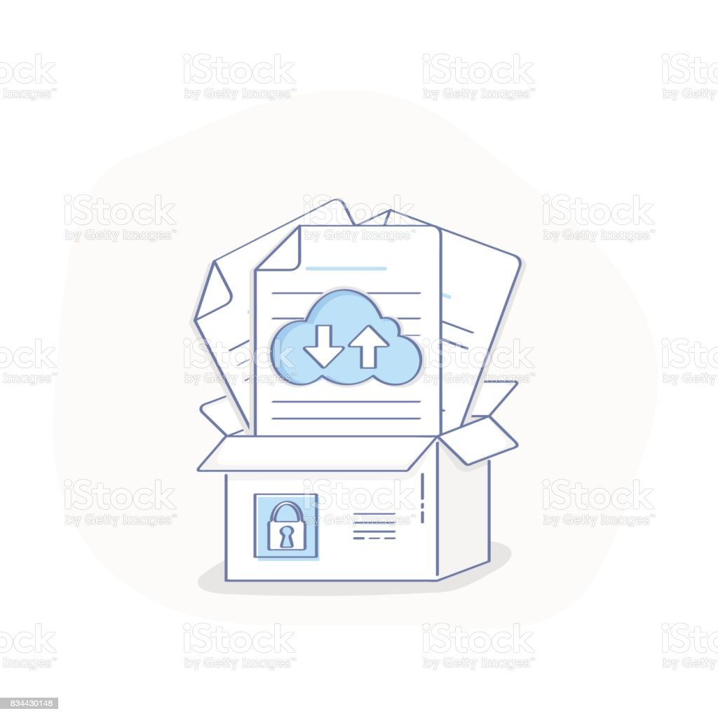 Cloud Storage Box Data transfer download concept. royalty-free cloud storage box  sc 1 st  iStock & Cloud Storage Box Data Transfer Download Concept Stock Vector Art ...