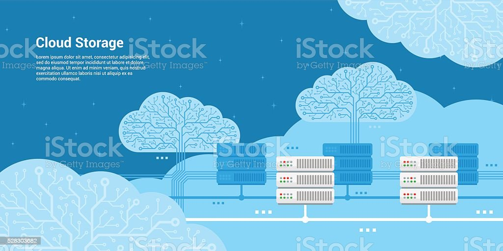 cloud storage concept vector art illustration