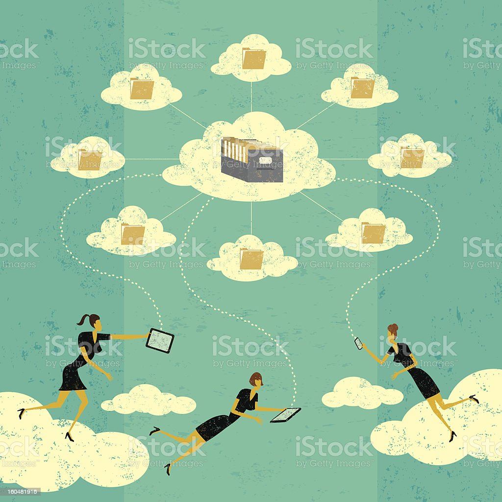 Cloud Storage Technology royalty-free stock vector art