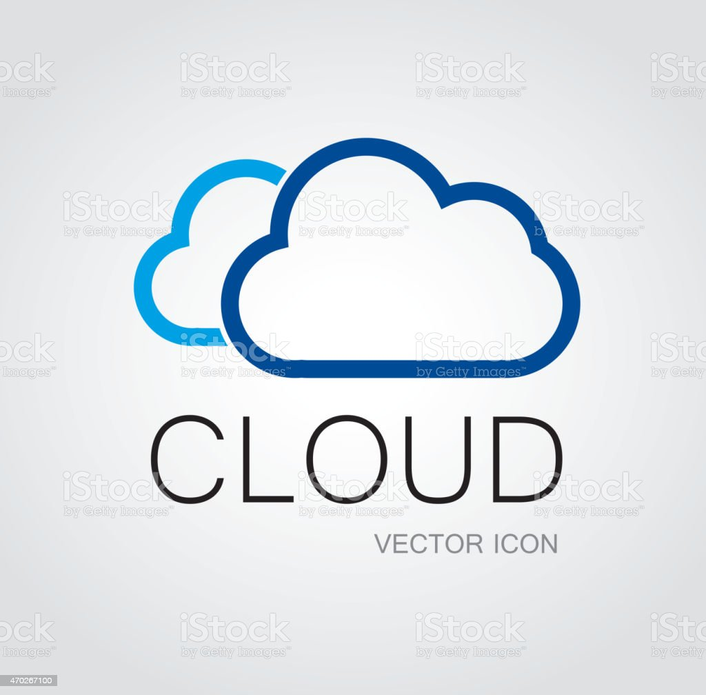 Cloud symbol vector art illustration