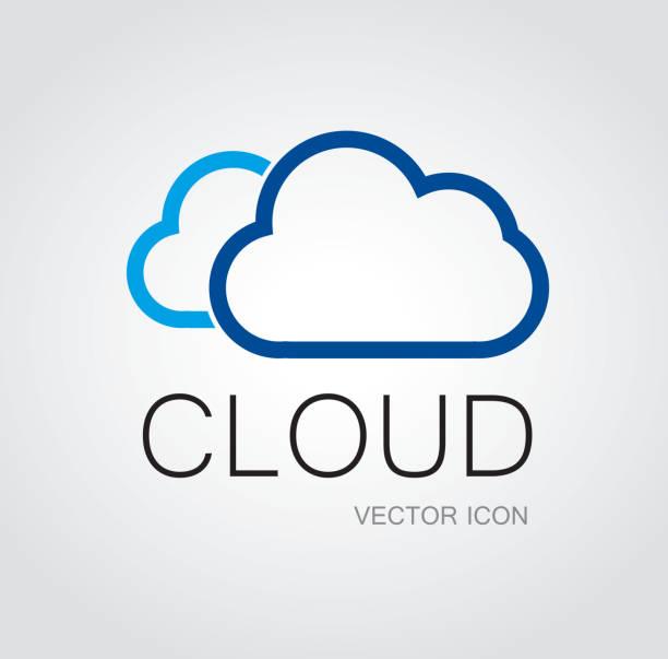 Símbolo de nuvem - ilustração de arte em vetor