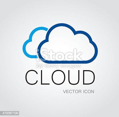 Cloud Symbol Stock Vector Art More Images Of 2015 470267100 Istock