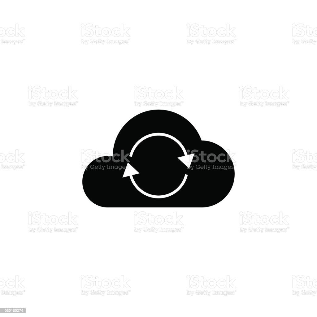 Sólido icono de Cloud sync ilustración de sólido icono de cloud sync y más banco de imágenes de aplicación para móviles libre de derechos