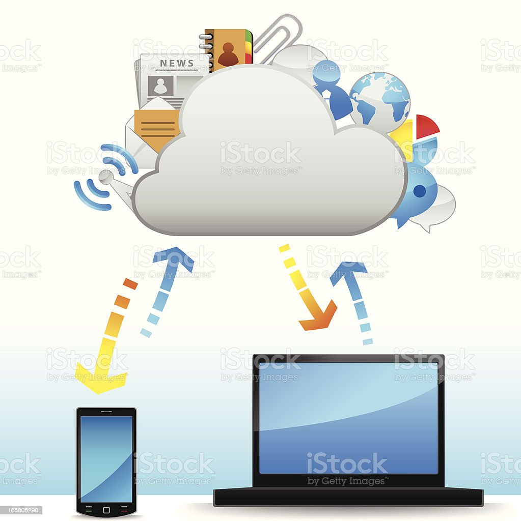 Cloud System royalty-free stock vector art