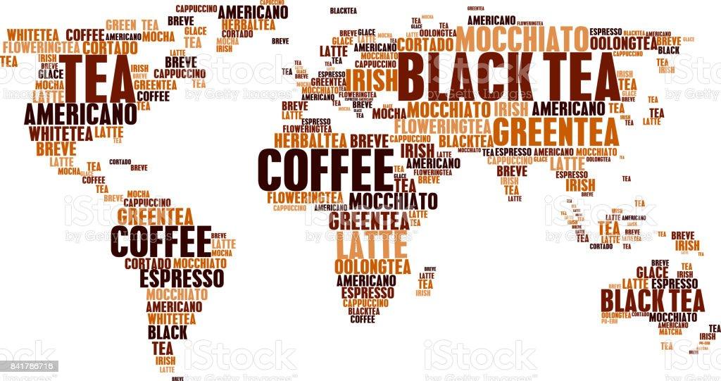 Ilustracin De Nube Tags T Caf Caliente Bebe Mundo Palabras Mapa Y