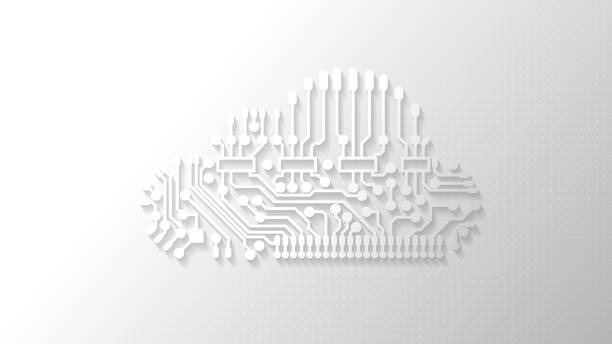 stockillustraties, clipart, cartoons en iconen met cloud technologie abstracte achtergrond. - cloud computing