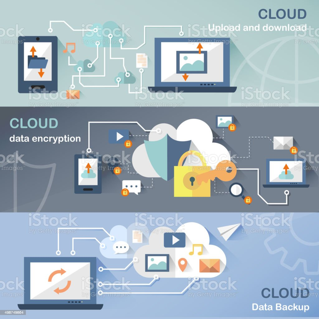 cloud technology concept vector art illustration