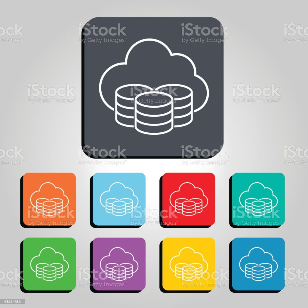 Cloud Technology Server Icon Vector Illustration royalty-free cloud technology server icon vector illustration stock vector art & more images of 2017