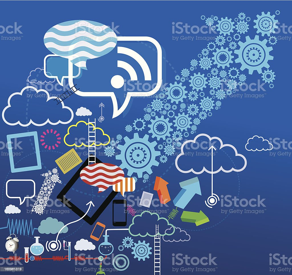 Cloud Technology royalty-free stock vector art
