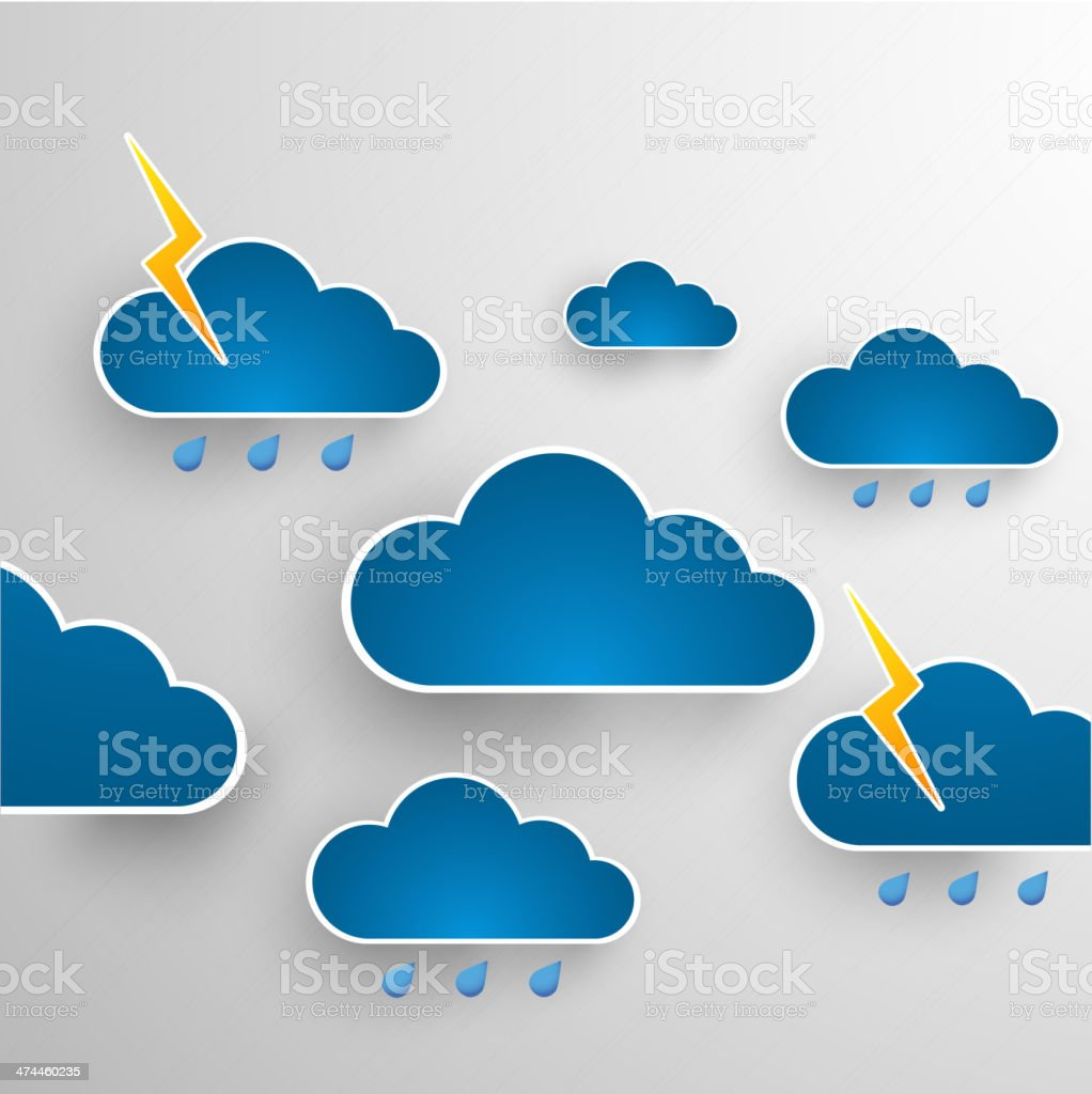 Cloud theme vector background. Bad weather.Eps 10 royalty-free stock vector art