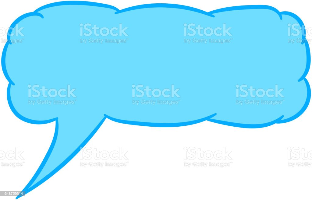 Cloud thought rectangular blue with trim of vector illustration vector art illustration