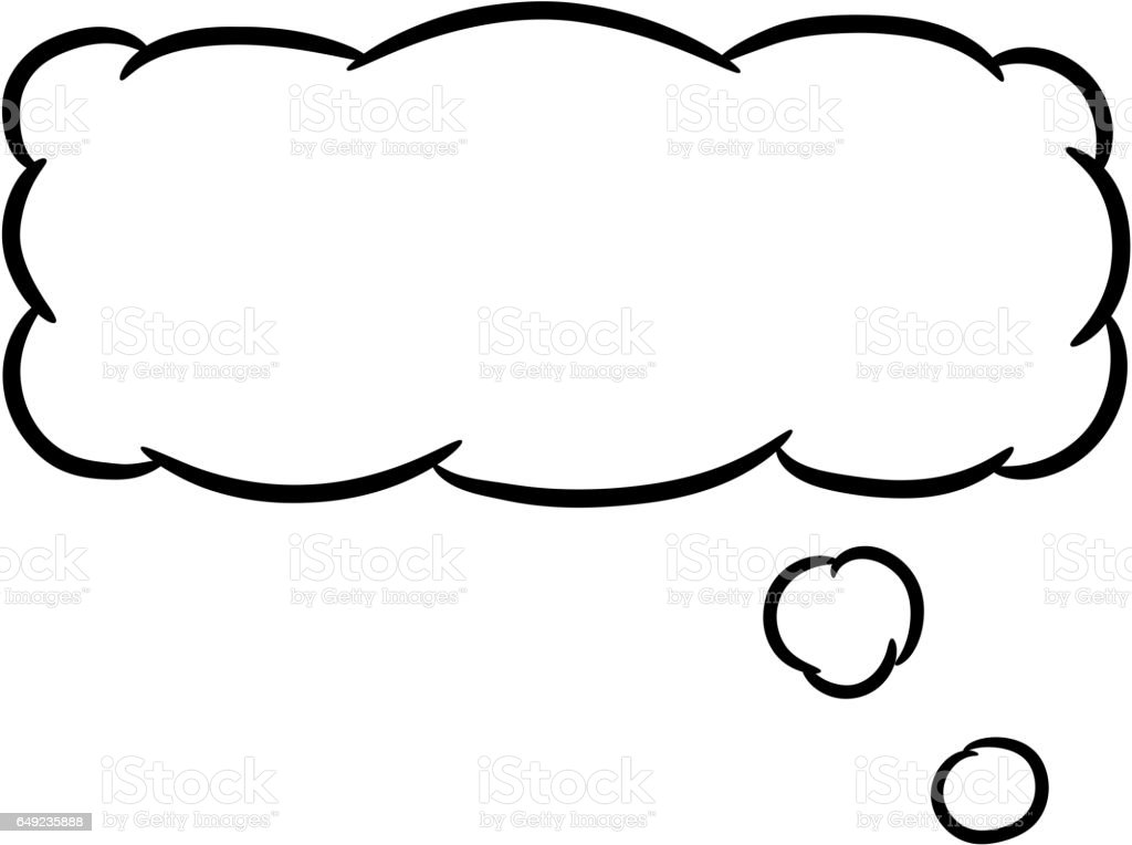 Cloud thought rectangular on white background of vector illustrations vector art illustration