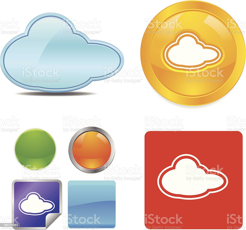 Cloud vector icon royalty-free cloud vector icon stock vector art & more images of blue