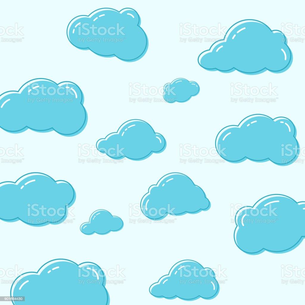 Cloud vector icons. vector art illustration