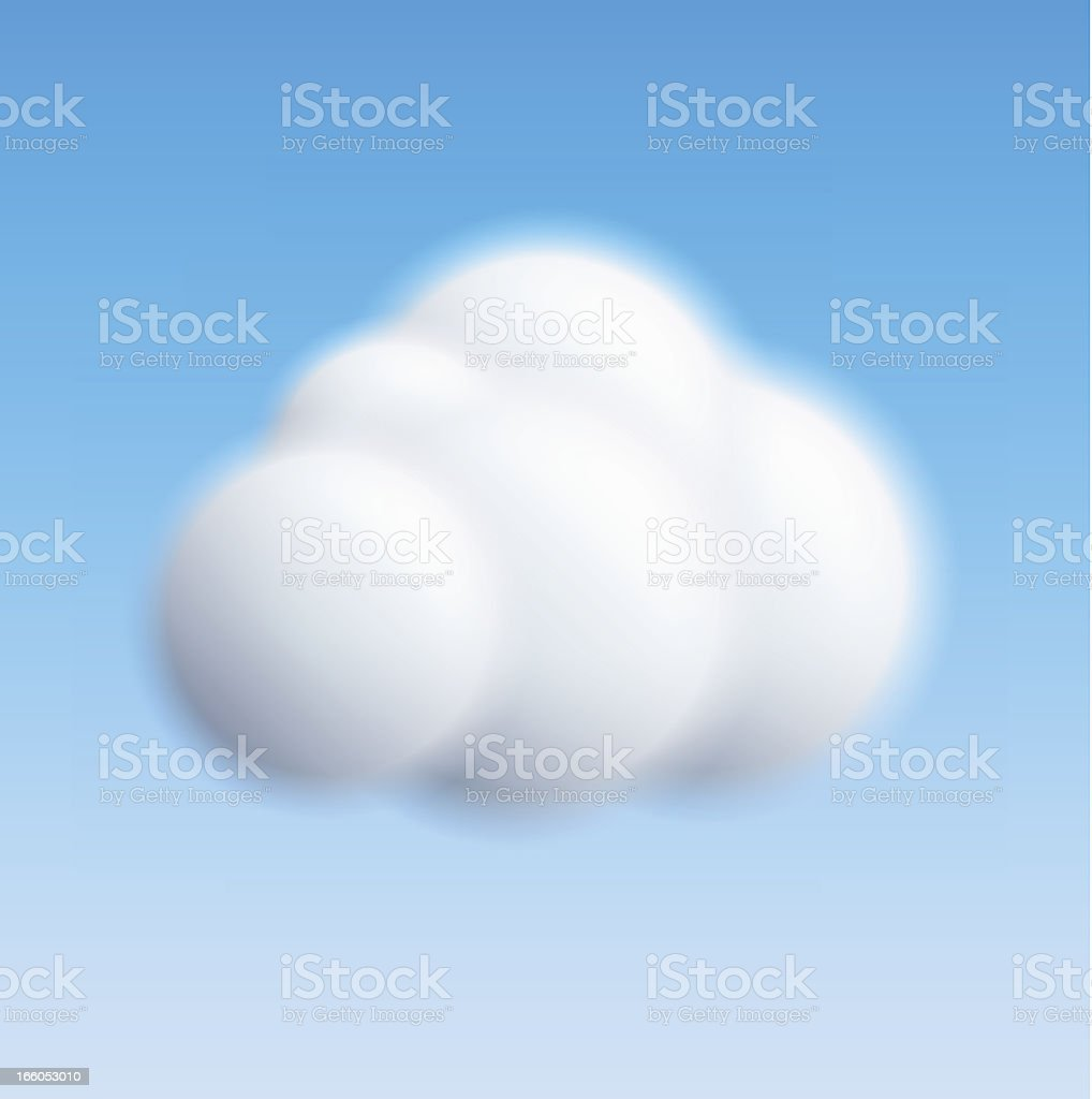 Cloud vector art illustration