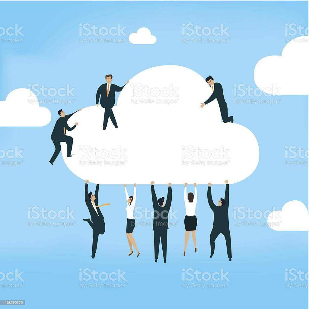 Cloud royalty-free stock vector art