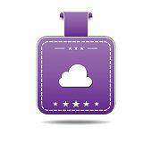 Cloud Violet Vector Icon Design