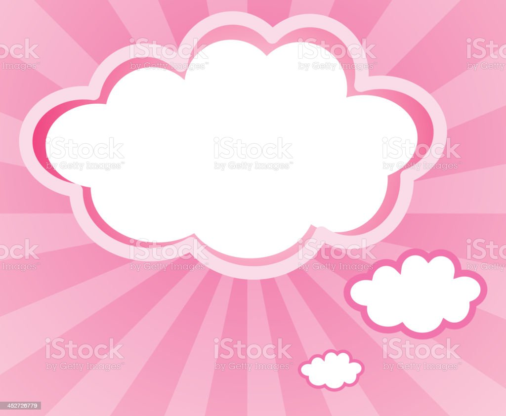 cloud with a pink background royalty-free cloud with a pink background stock vector art & more images of advertisement