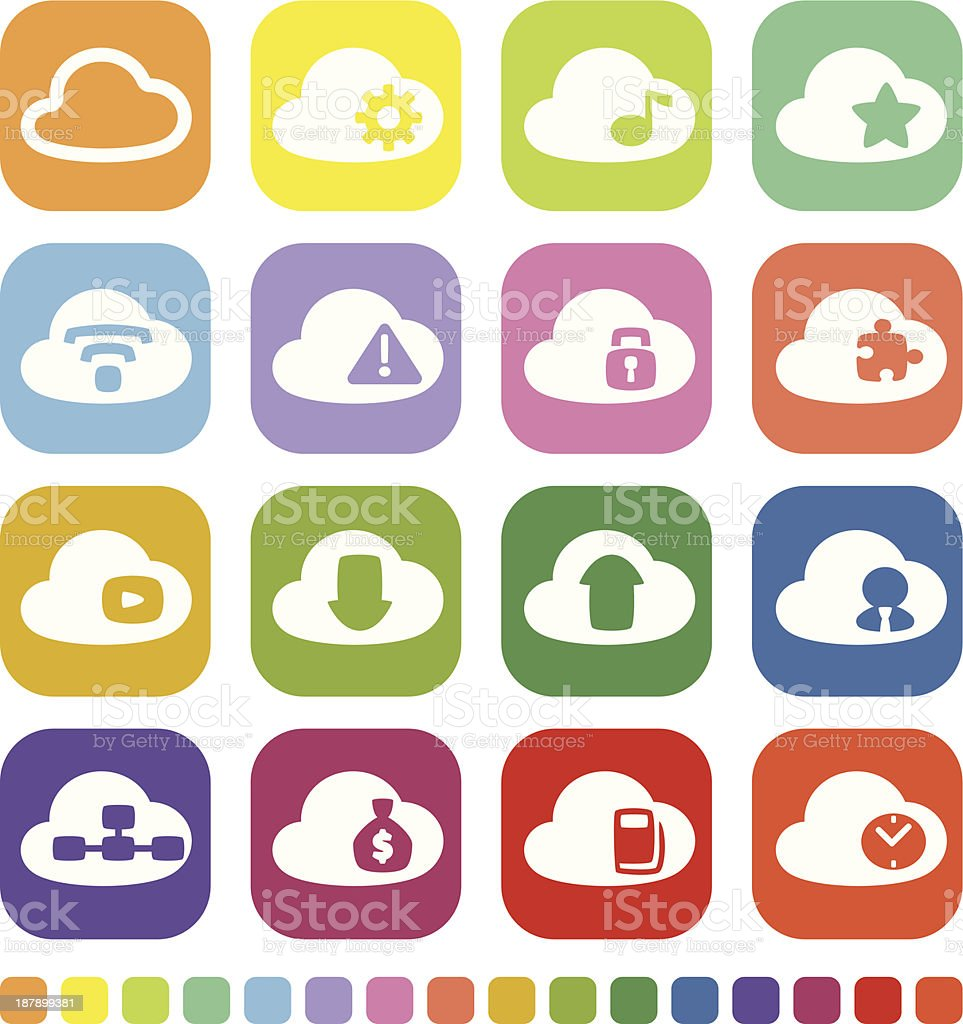 Cloud Work Icon royalty-free stock vector art