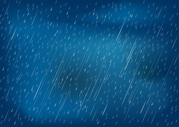 chmury i burza, pora deszczowa - deszcz stock illustrations