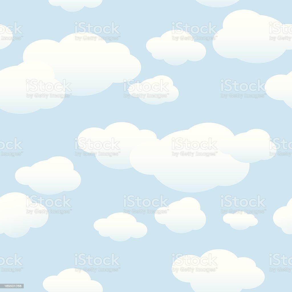 Clouds Background vector art illustration