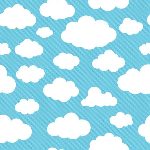 clouds blue pattern - krajobraz z chmurami stock illustrations