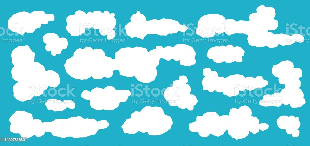 Clouds Icon Cloud Symbol Or Logo Different Clouds Vector Set Stock
