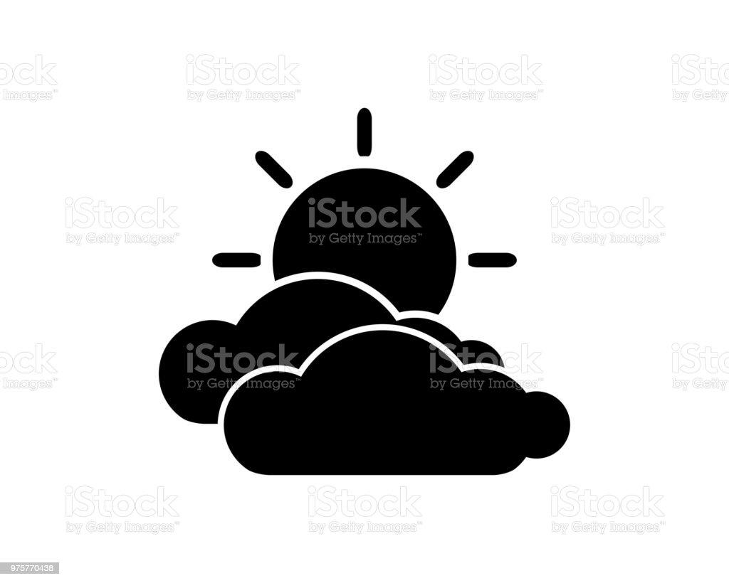 Wolken-Symbol-Design-Darstellung, Glyph-Style-design - Lizenzfrei Auftragen Vektorgrafik