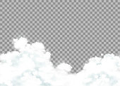 Clouds isolated on a transparent background. Stock vector illustration.