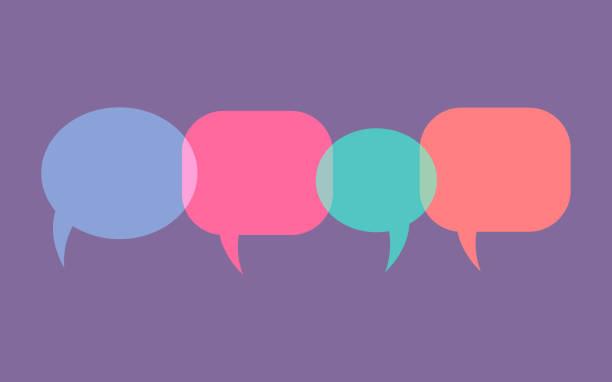 wolken des dialogs, blasen zum reden. vektor - feedback stock-grafiken, -clipart, -cartoons und -symbole